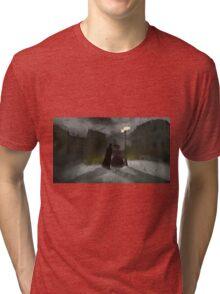Jack the Ripper On the Hunt by Sarah Kirk Tri-blend T-Shirt