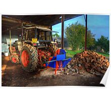 Tractor & the logs Poster