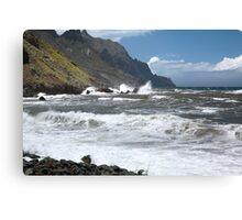 Rocky Atlantic ocean coastline Tenerife Canvas Print