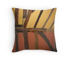 Colours in ancient wall Throw Pillow