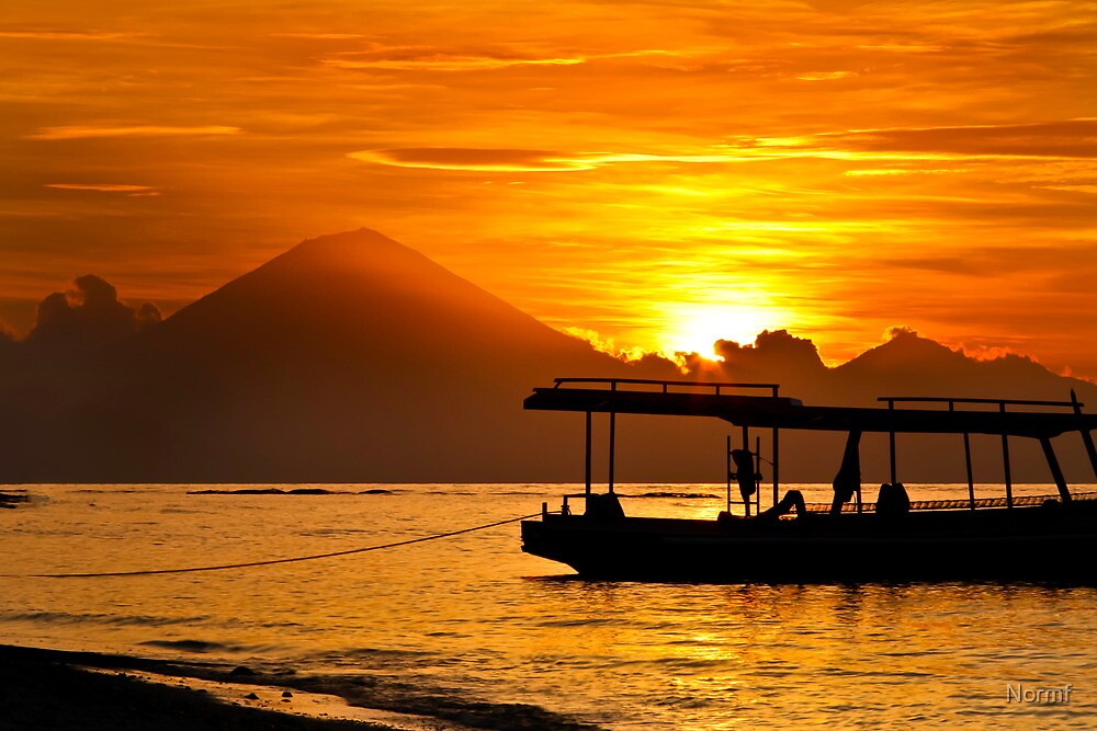 Mount Agung sunset, Bali Indonesia by Normf