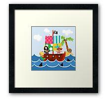 PIRATE SHIP (AQUATIC VEHICLE) Framed Print
