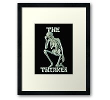 The Thinker .. tee shirt Framed Print