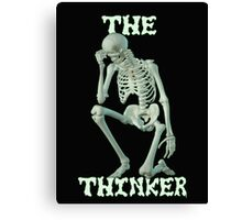 The Thinker .. tee shirt Canvas Print