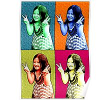 Happy Girl Say Cheese Pop Art Poster