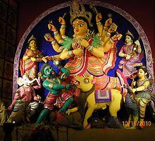 Durga Puja, 2010, 66 Pally, Rashbehari, Kolkata, India by Mahesh Kumar