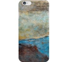 "Large Wall Art , Abstract art, Contemporary art, Original textured painting, Nature Wall Art ""Canyon Sunset"" iPhone Case/Skin"