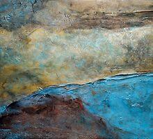 "Large Wall Art , Abstract art, Contemporary art, Original textured painting, Nature Wall Art ""Canyon Sunset"" by hollyanderson"