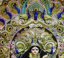 Durga Puja, 2010, Mudiali, Kolkata, India by Mahesh Kumar