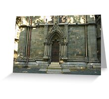 A door - Nidaros Cathadral Greeting Card