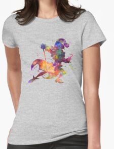 Captain Hook in watercolor Womens Fitted T-Shirt