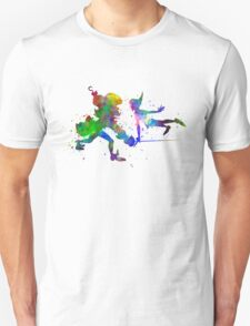 Peter Pan and Captain Hook in watercolor Unisex T-Shirt