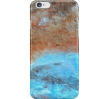 "Large Wall Art , Abstract art, Contemporary art, Original textured painting, Nature Wall Art ""DRIFT"" iPhone Case/Skin"