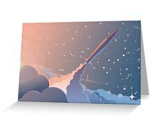 Spaceship Greeting Card