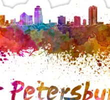 St Petersburg FL skyline in watercolor Sticker
