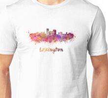 Lexington skyline in watercolor Unisex T-Shirt