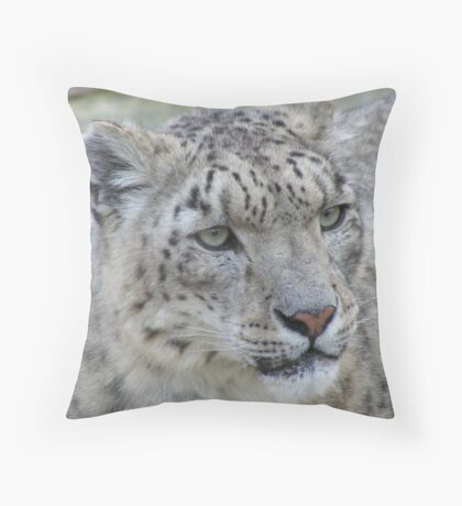 Snow Leopard - Marwell Wildlife Throw Pillow