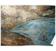 """Large Wall Art , Abstract art, Contemporary art, Original textured painting, Nature Wall Art """"ELEVATIONS"""" Poster"""