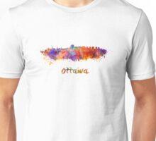 Ottawa skyline in watercolor Unisex T-Shirt