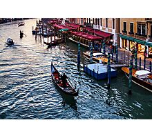 Impressions Of Venice - a Classic Grand Canal Evening Photographic Print