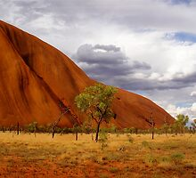 Central Australia - Uluru II by Louise Fahy