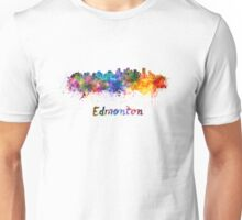 Edmonton skyline in watercolor Unisex T-Shirt