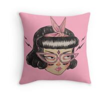 Gang ϟ Girl Throw Pillow