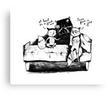 Foxy conversation Canvas Print