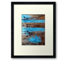 "Large Wall Art , Abstract art, Contemporary art, Original textured painting, Nature Wall Art "" Utopia "" Framed Print"