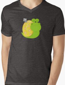 Snail (male) Mens V-Neck T-Shirt