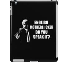 Pulp Fiction English Do You Speak It iPad Case/Skin