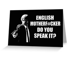 Pulp Fiction English Do You Speak It Greeting Card
