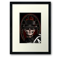 The Face Of Death Framed Print