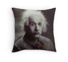 Einstein by John Springfield Throw Pillow