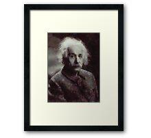 Einstein by John Springfield Framed Print