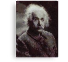 Einstein by John Springfield Canvas Print