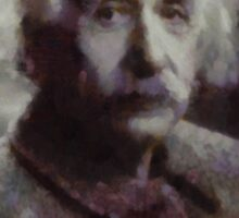 Einstein by John Springfield Sticker