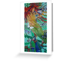 Mermaid and Butterflies Greeting Card