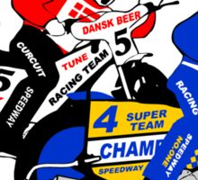 Speedway Motorcycle Racing Sticker