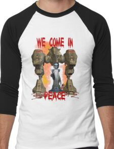 In Peace We Conquer  Men's Baseball ¾ T-Shirt