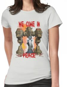In Peace We Conquer  Womens Fitted T-Shirt