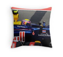 Mark Webber 2010 British Grand Prix Throw Pillow
