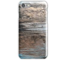 """Large Wall Art , Abstract art, Contemporary art, Original textured painting, Nature Wall Art """"Waters Edge"""" iPhone Case/Skin"""