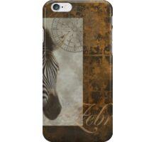 Zebra safari series iPhone Case/Skin