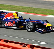 Sebastian Vettel Red Bull British Grand Prix 2010 by WillOakley
