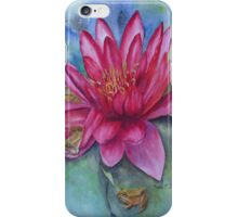 Water lily hide and seek iPhone Case/Skin