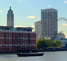 Oxo Tower and London Eye by Chris Day