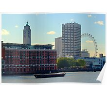 Oxo Tower and London Eye Poster