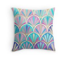 Glamorous Twenties Art Deco Pastel Pattern Throw Pillow