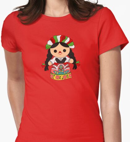 Maria 1 (Mexican Doll) Womens Fitted T-Shirt
